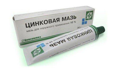 Вазелиновое масло хорошо сочетается с цинковой мазью