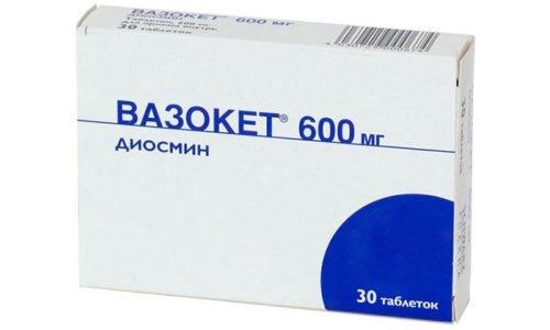 Больным геморроем назначают венотоник с диосмином Вазокет