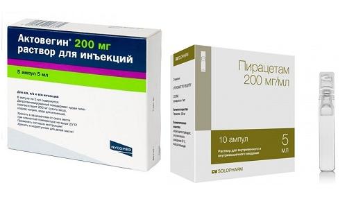 В неврологической, психиатрической и наркологической практике врачи часто назначают такие препараты, как Актовегин и Пирацетам