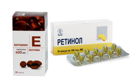 Витамин E и ретинол (витамин A) необходимы для поддержания биохимических процессов, часто их употребляют вместе