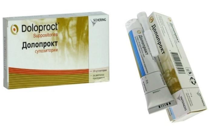 Фармацевтические компании производят 2 лекарственные формы Долопрокта: суппозитории и крем