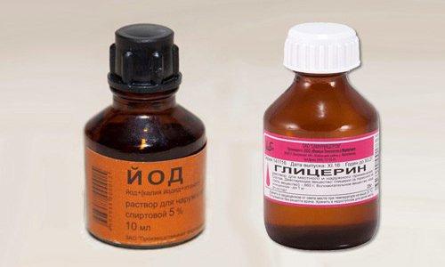 Йод и глицерин - это одно из эффективных средств, которое используется наружно
