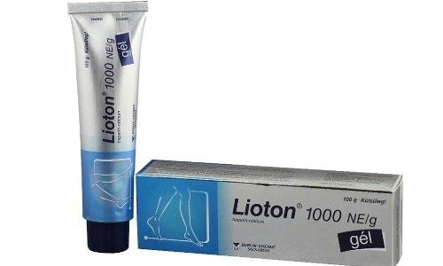 Для улучшения микроциркуляции в пораженных сосудах применяется гель Лиотон