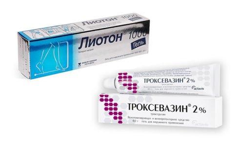 Эффективно борются с патологиями сосудов медикаменты Лиотон и Троксевазин