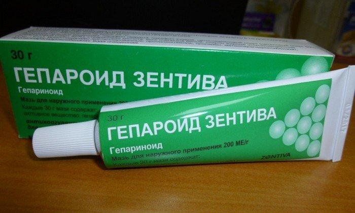 Действующим веществом препарата является гепариноид