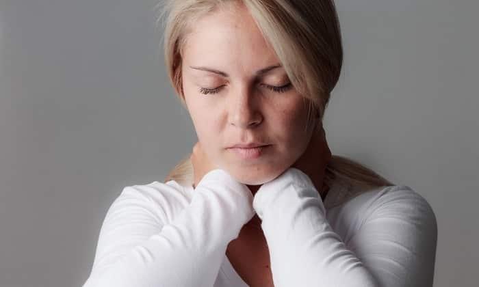 Во время использования лекарства могут возникнуть болезненные ощущения в области горла