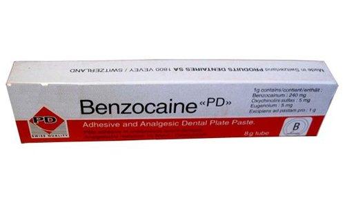 Бензокаин представлен как обезболивающее для местного применения различных лекарственных форм
