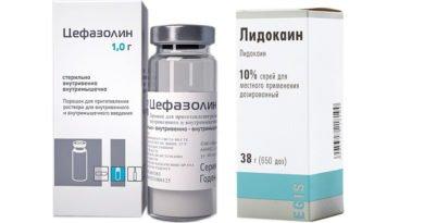 Можно ли принимать одновременно Лидокаин и Цефазолин?