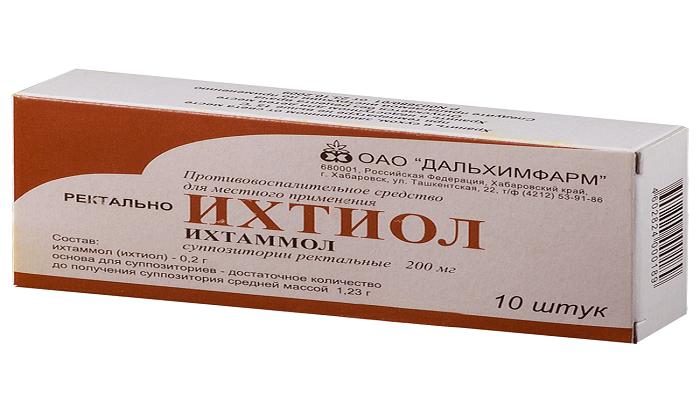 Ихтиол для удобства применения выпускается в форме ректальных суппозиториев