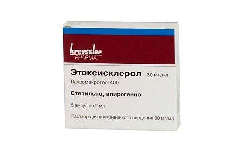 Этоксисклерол, применяется в качестве склерозанта
