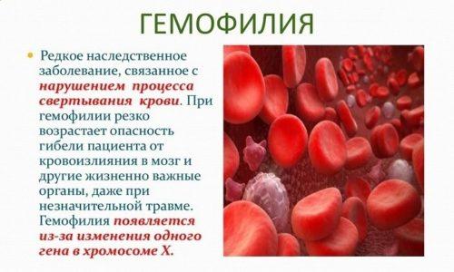 Применение Диофлана запрещено при гемофилии