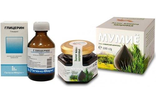 Глицерин и мумие - вещества, используемые человеком уже с давних пор для лечения многих заболеваний, особенно гайморита