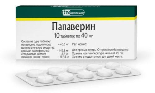 Папаверин является одним из старейших лекарств, обладающих спазмолитическим действием