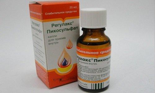 Регулакс Пикосульфат, выпускаемый в виде таблеток или капель является слабительным средством