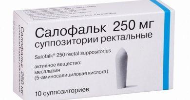 Результаты применения свечей Салофальк 250 при геморрое