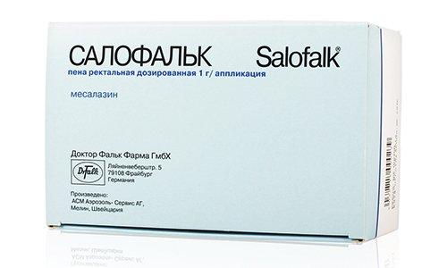 Салофальк - препарат назначаемый при заболеваниях желудочно-кишечного тракта