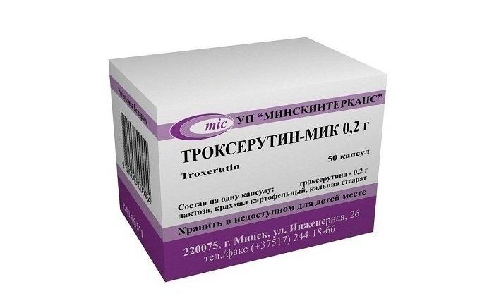 Троксерутин-МИК воздействует в основном на венозные сосуды и мелкие капилляры