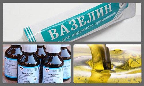 Вазелин, глицерин и масла способствуют более мягкому и бережному воздействию препарата на поврежденные участки слизистой оболочки