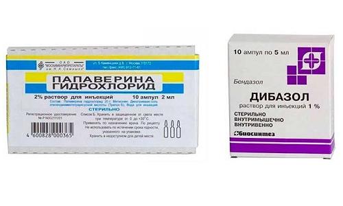 Укол Папаверина и Дибазола применяют для купирования симптомов острого гипертонического криза