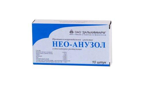 Нео-Анузол - эффективное противогеморроидальное лекарство, выпускаемое в форме ректальных свечей
