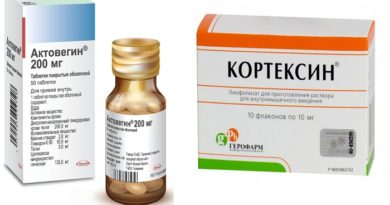 Кортексин и Актовегин