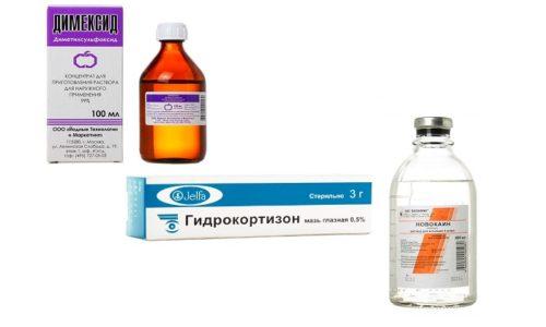И Димексид, и Гидрокортизон, и Новокаин можно использовать вместе, чтобы достичь быстрого эффекта терапии