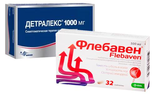 При заболеваниях вен нередко выбор встает между двумя препаратами: Детралекс или Флебавен