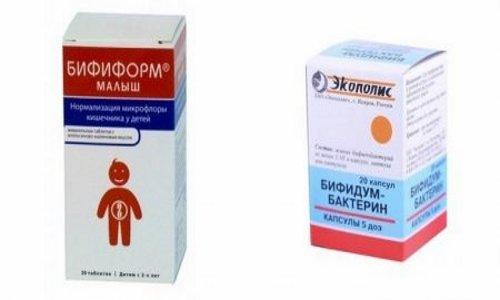 Пробиотики, например Бифиформ или Бифидумбактерин, применяются для нормализации микрофлоры желудочно-кишечного тракта и повышения иммунитета организма