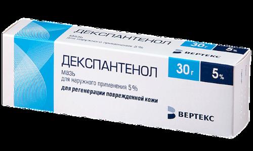 Декспантенол активирует процесс регенерации тканей, применяется для лечения ран, ожогов, в т. ч. и осложненных развитием воспалительного процесса