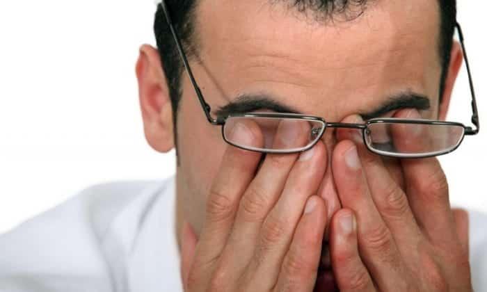 От препарата может возникнуть такое побочное проявление как нарушение зрения