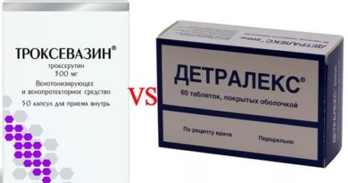 Сравнение Троксевазина и Детралекса