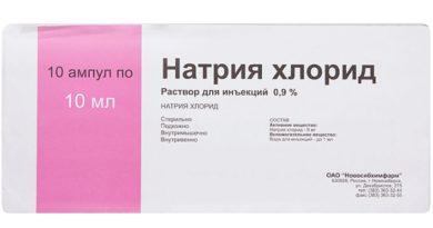 Препарат Натрия Хлорид 0,9: инструкция по применению