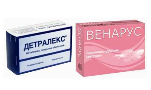 У Детралекса как и у Венаруса практически идентичные составы, оба содержат диосмин и гесперидин
