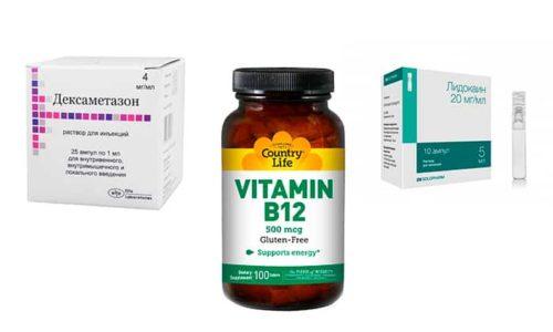 Лидокаин, и B12, и Дексаметазон применяют для устранения болевого синдрома