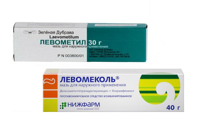 Левометил и Левомеколь