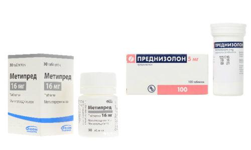 В курс лечения аутоиммунных патологий часто включаются Преднизолон или Метипред