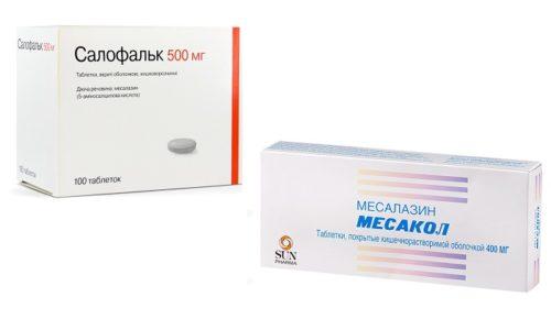 Салофальк и Месакол нередко назначают при хронических воспалительных поражениях слизистой кишечника